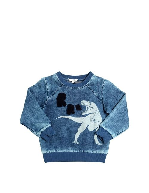 Little Marc Jacobs | Синий T-Rex Printed Bleached Cotton Sweatshirt