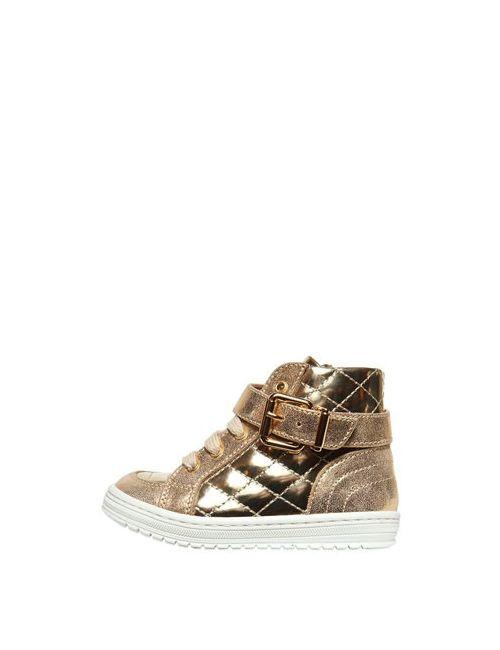 Simonetta | Золотой Metallic Leather High Top Sneakers
