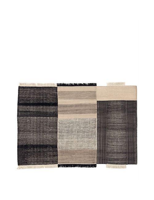 NANIMARQUINA | Черный Tres Black Wool Cotton Rug