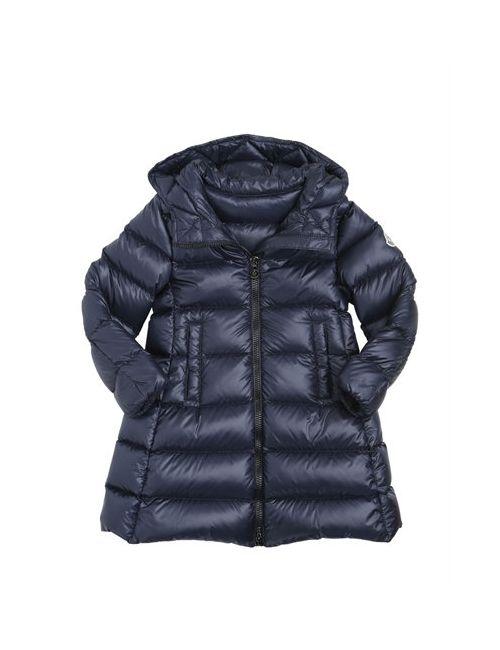 Moncler | Navy Suyen Nylon Long Down Jacket