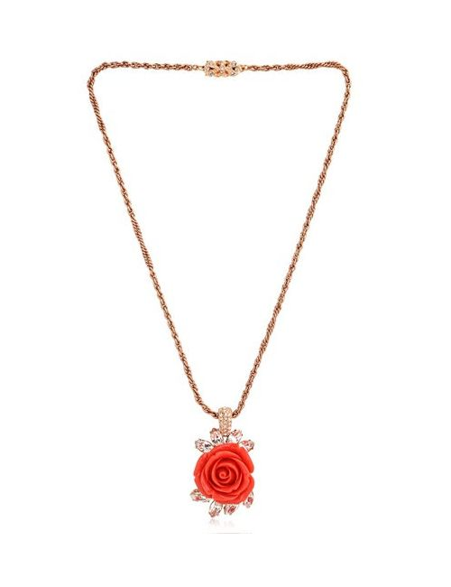 Mawi | Чёрный Rose And Crystal Pendant