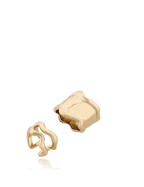 Eshvi | Золотой Lava Ring Set