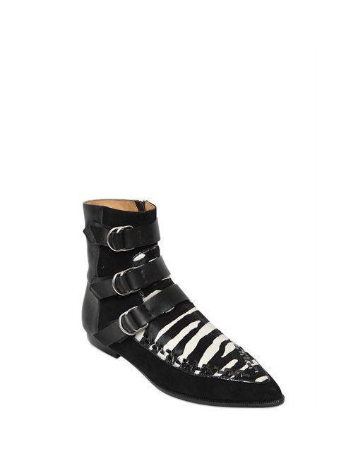 Isabel Marant | Чёрный 10mm Rowi Pony Skin Suede Boots