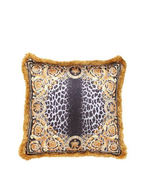 Versace | Золотой Crown Animalier Silk Accent Pillow