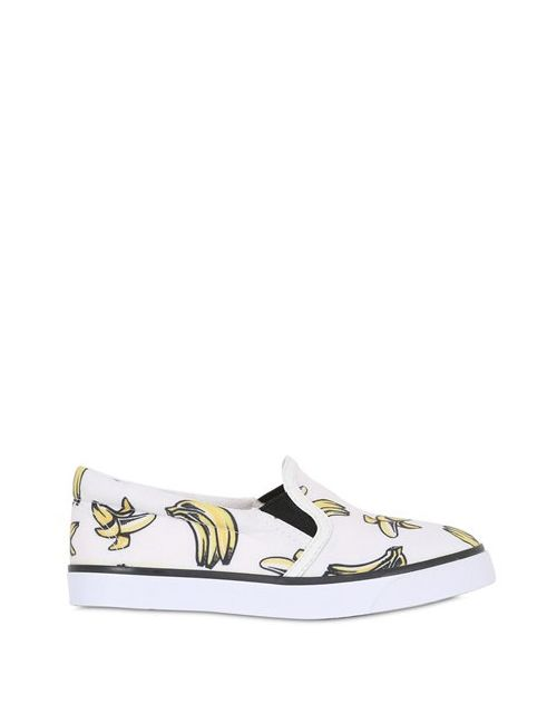 Sophia Webster | Белый Banana Printed Canvas Slip-On Sneakers