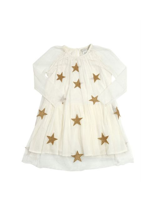 Stella Mccartney | Белый Stretch Tulle Party Dress W/ Stars