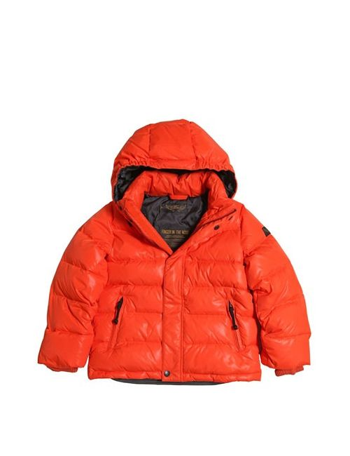 FINGER IN THE NOSE | Оранжевый Hooded Nylon Down Jacket