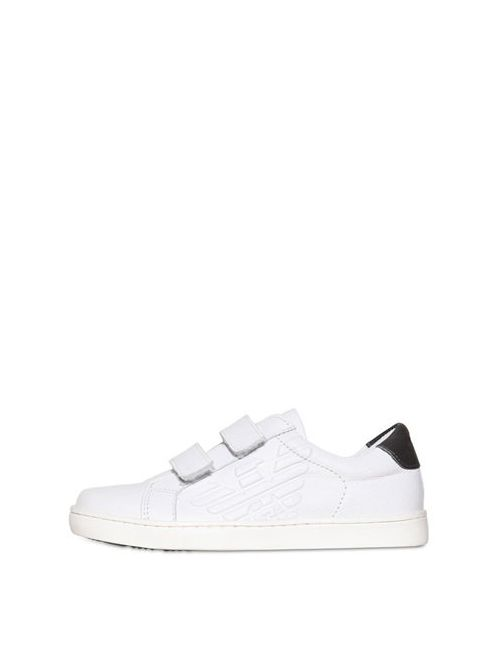 Armani Junior | Белый Logoed Leather Sneaker
