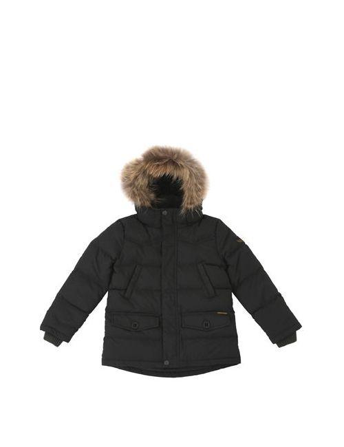 FINGER IN THE NOSE   Чёрный Murmansky On Hooded Nylon Down Jacket