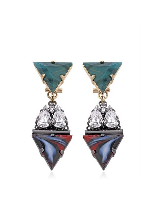 Anton Heunis | Коричневый Art Deco Expression Earrings