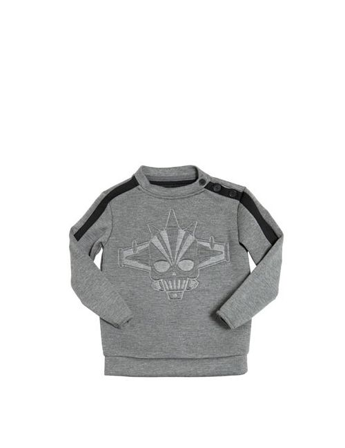 HYDROGEN KID | Серый H-Robot Embossed Neoprene Sweatshirt