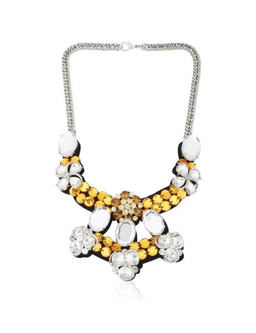Ortys   Черный Crystals Necklace