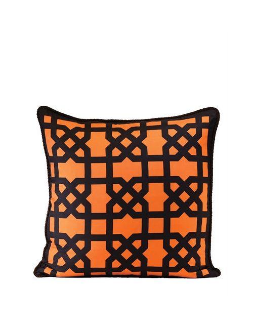 ALEXANDRA D.FOSTER | Оранжевый London Printed Silk Pillow