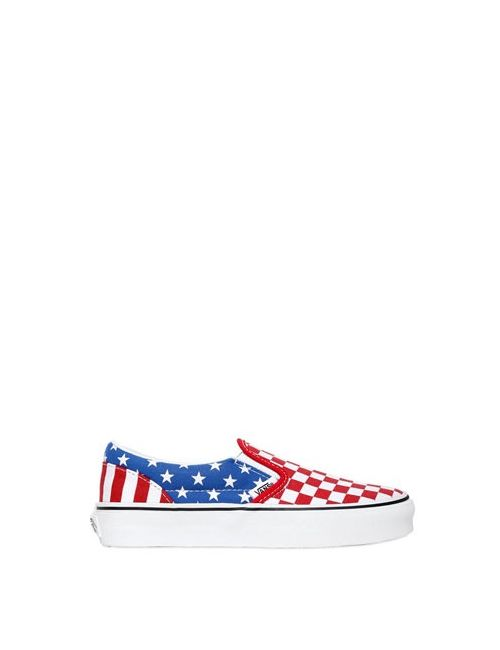Vans | Multi American Flag Canvas Slip-On Sneakers