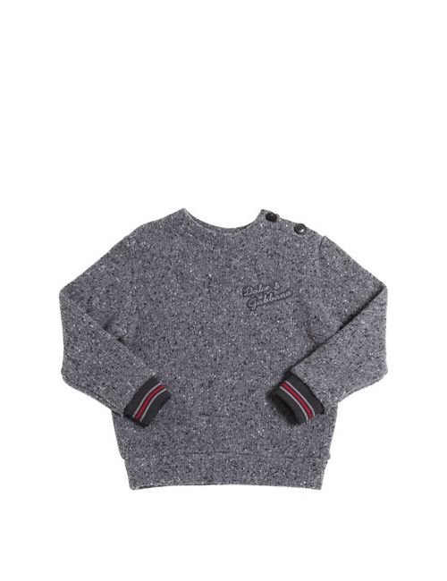 Dolce & Gabbana | Серый Wool Tricot Cotton Fleece Sweater