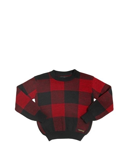 FINGER IN THE NOSE | Чёрный Plaid Wool Cashmere Angora Sweater