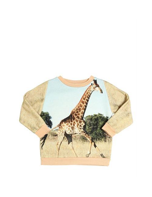 Popupshop | Многоцветный Giraffe Print Organic Cotton Sweatshirt