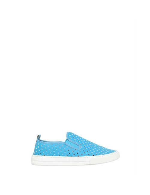 Stella Mccartney | Синий Perforated Faux Leather Slip-On Sneakers