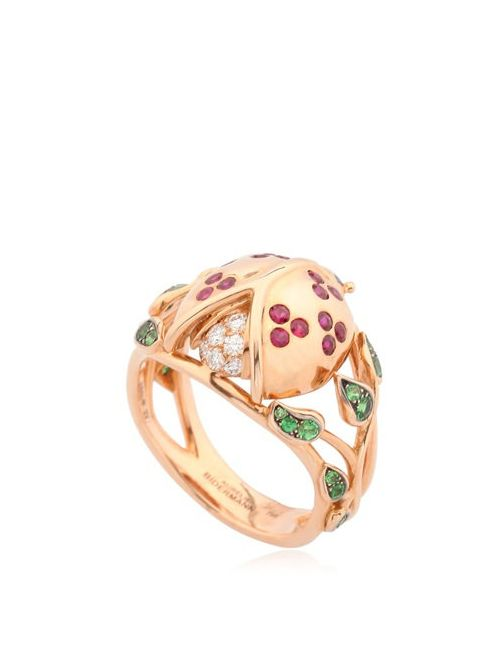 Aurelie Bidermann | Золотой Ladybird Leaves Ring