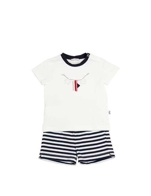 Il Gufo | Белый Cotton Jersey T-Shirt Striped Shorts
