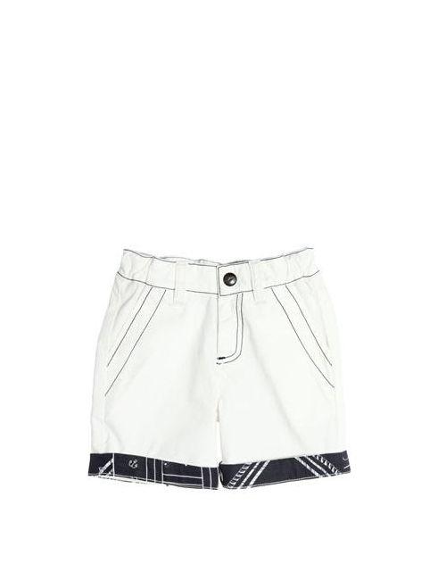 Junior Gaultier   Белый Cotton Poplin Shorts