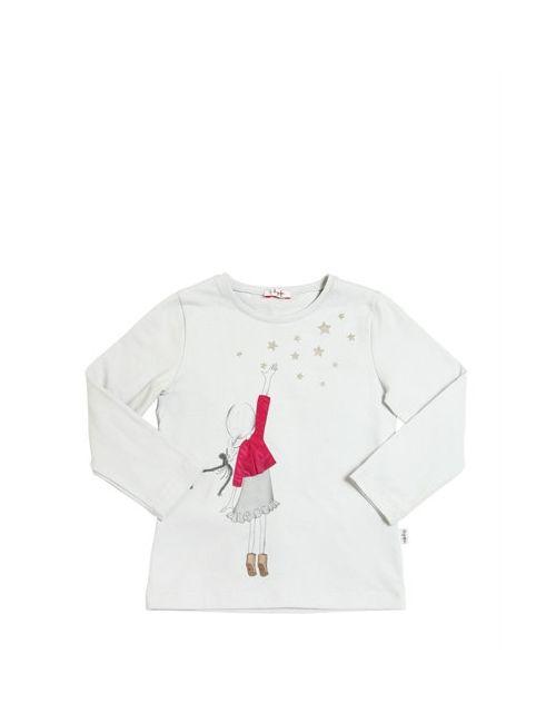Il Gufo | Серый Reach The Stars Cotton Interlock T-Shirt
