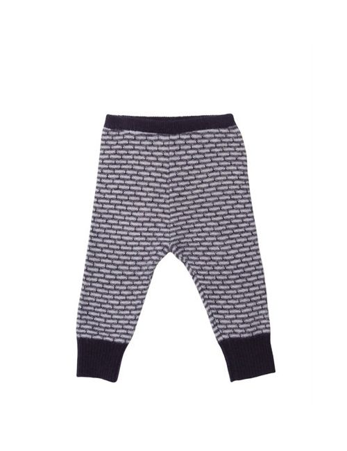 CARAMEL BABY AND CHILD | Фиолетовый Knitted Jacquard Merino Wool Leggings