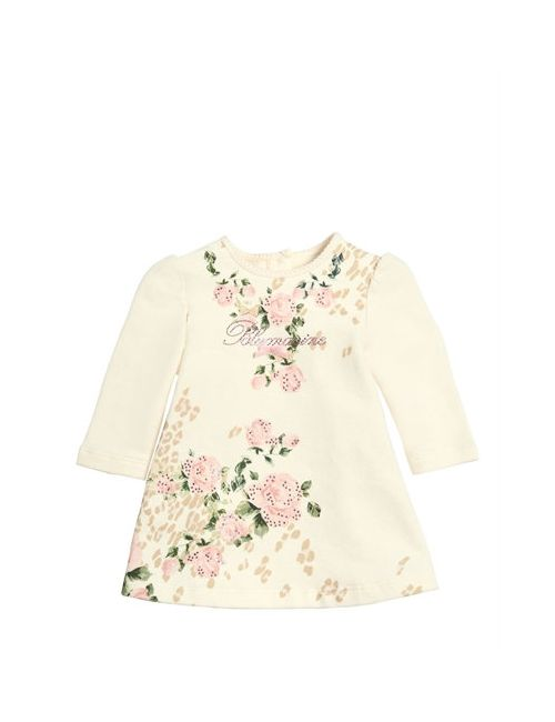 Miss Blumarine | Cream Embellished Cotton Dress