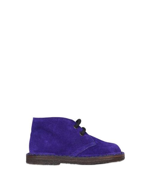 Pèpè | Violet Suede Derby Lace-Up Shoes