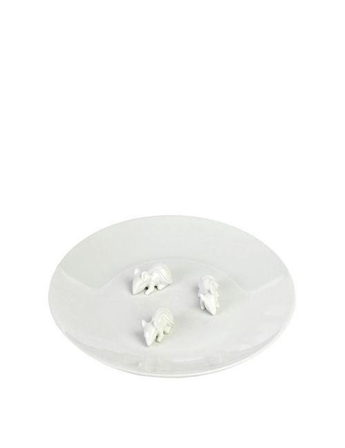 POLS POTTEN | Белый Bone China Plate With Mice