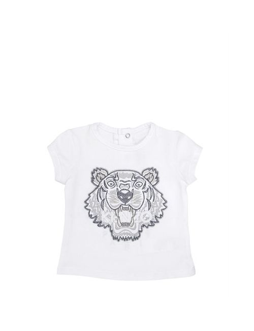 Kenzo Kids | Белый Tiger Embroidered Cotton T-Shirt