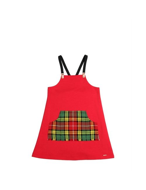Junior Gaultier | Красный Milano Jersey Plaid Flannel Dress