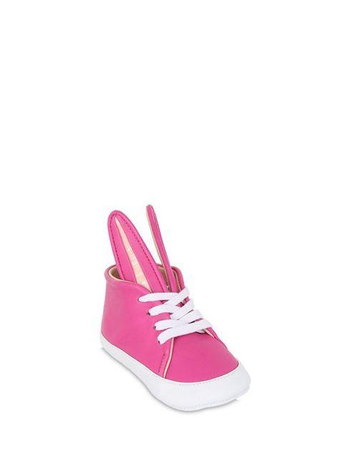 MINNA PARIKKA | Fuchsia Bunny Leather Sneakers