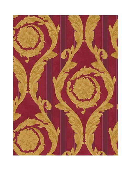 Versace | Золотой Barocco And Stripes Wallpaper