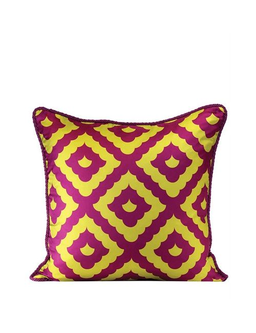 ALEXANDRA D.FOSTER | Желтый Amalfi Printed Silk Pillow