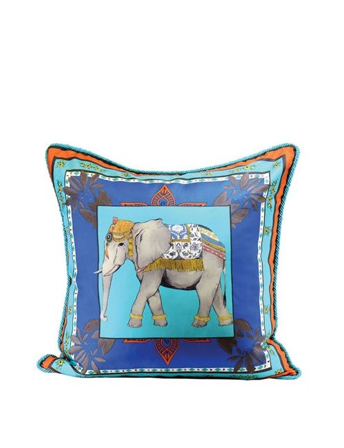 ALEXANDRA D.FOSTER | Оранжевый Jaipur Printed Silk Pillow