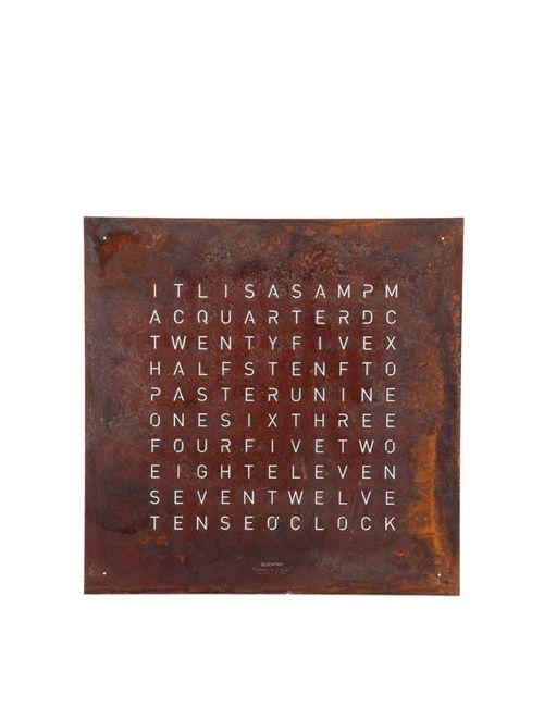 QLOCKTWO | Коричневый Creators Edition Rust Wall Clock