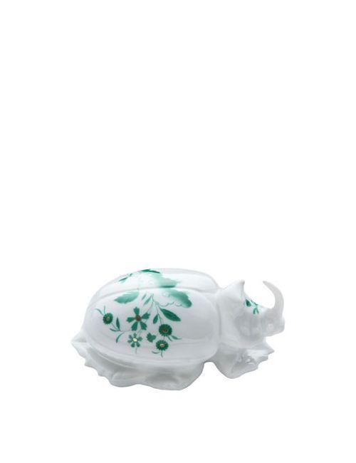 RICHARD GINORI 1735   Зелёный Scarabeo Rinnoceronte Beetle Figurine
