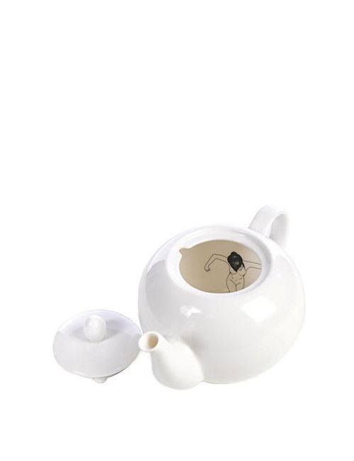POLS POTTEN | Чёрный Undressed Porcelain Teapot