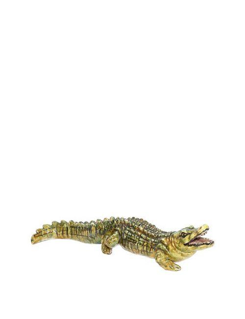 CERAMICHE PUGI | Зелёный Ceramic Crocodile
