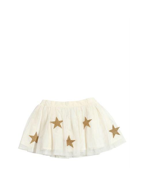 Stella Mccartney | Белый Gathered Tulle Skirt W/ Star Patches