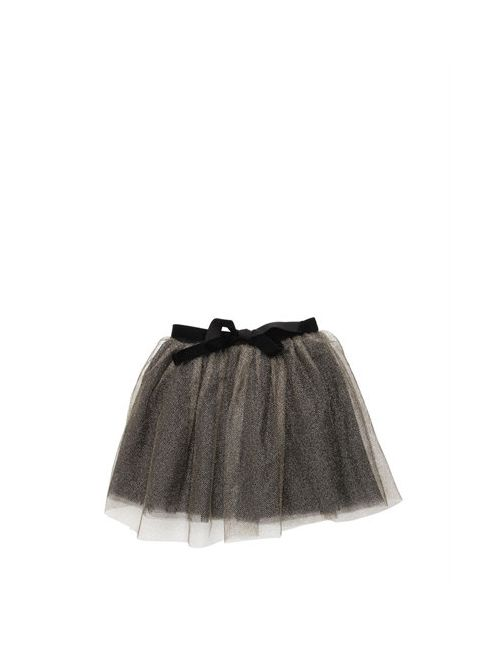 CARAMEL BABY AND CHILD | Золотой Glittered Multi Layered Tulle Skirt