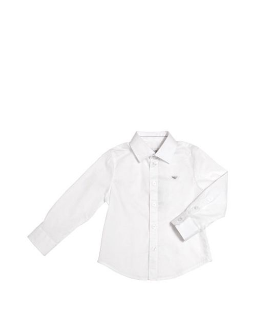 Armani Junior | Белый Cotton Poplin Shirt