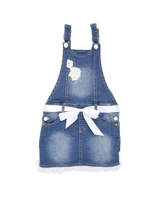 Blumarine Jeans | Синий Denim Overalls With Ruffle Detail