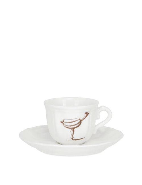 PAMPALONI | Белый Fruit Bichierografia Coffee Cup Saucer