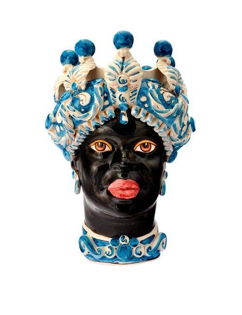 SICILY & MORE | Многоцветный Blue Queen Ceramic Moors Head