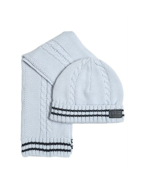 Hugo | Синий Tricot Cotton Scarf Hat