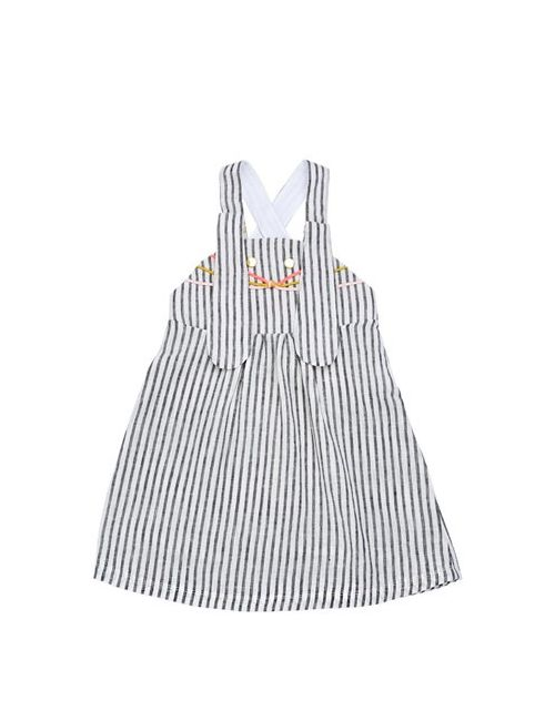 Bang Bang Copenhagen | Белый Mouse Face Striped Linen Blend Dress