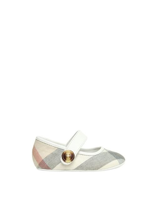 Burberry | Бежевый Check Cotton Canvas Leather Ballerinas