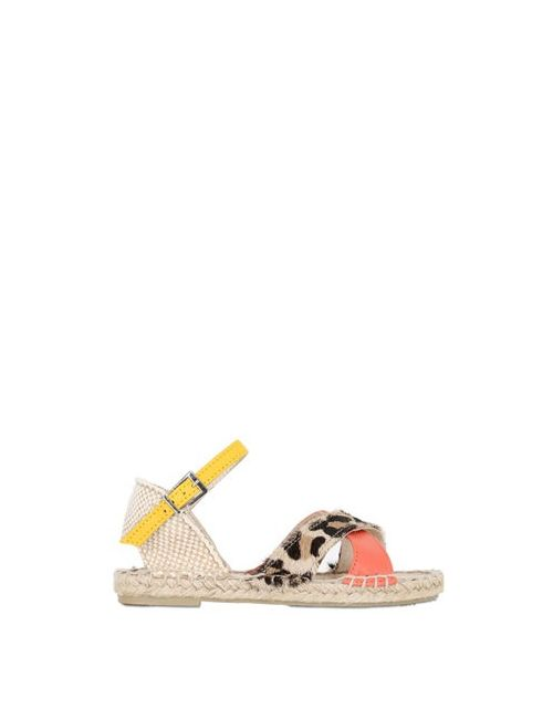 SONATINA | Красный Printed Ponyskin Leather Sandals